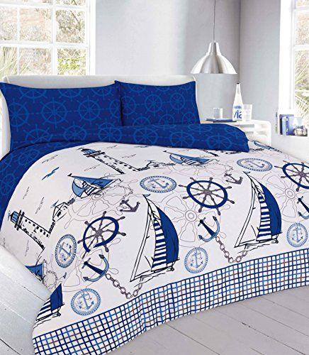 Northern Threadz Polycotton Modern Jake Duvet Cover Sets Https Www Amazon Co Uk Dp B01n5e17po Ref Cm S Modern Bed Sheets Blue Bedding Sets Guest Room Bed