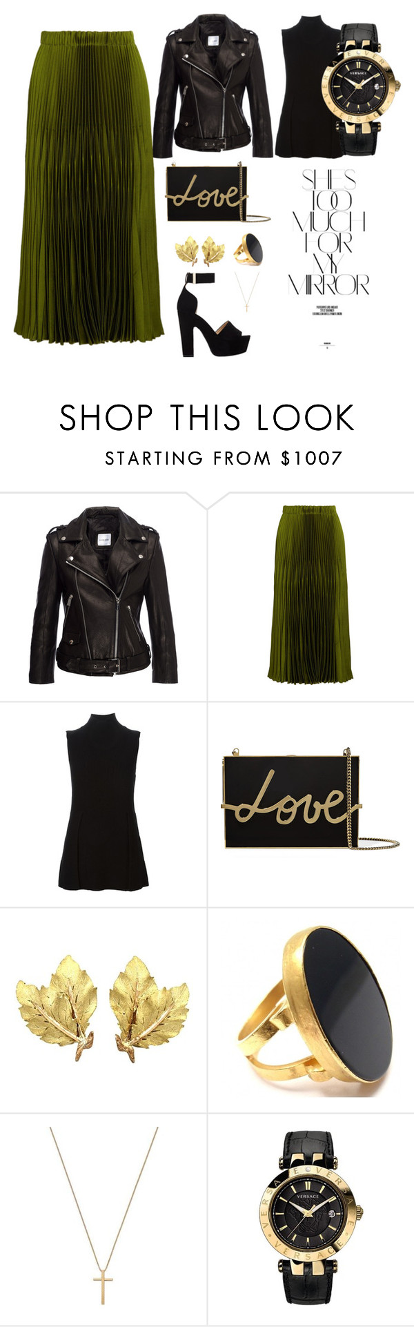 """""""It's all about that skirt"""" by margaery-tyrel ❤ liked on Polyvore featuring Gucci, Proenza Schouler, Lanvin, Buccellati, Yossi Harari, Versace, Rika and Nicholas Kirkwood"""