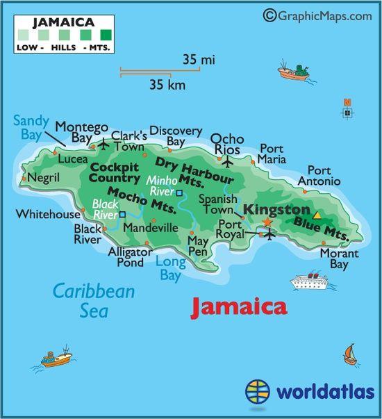 jamaica verdenskort