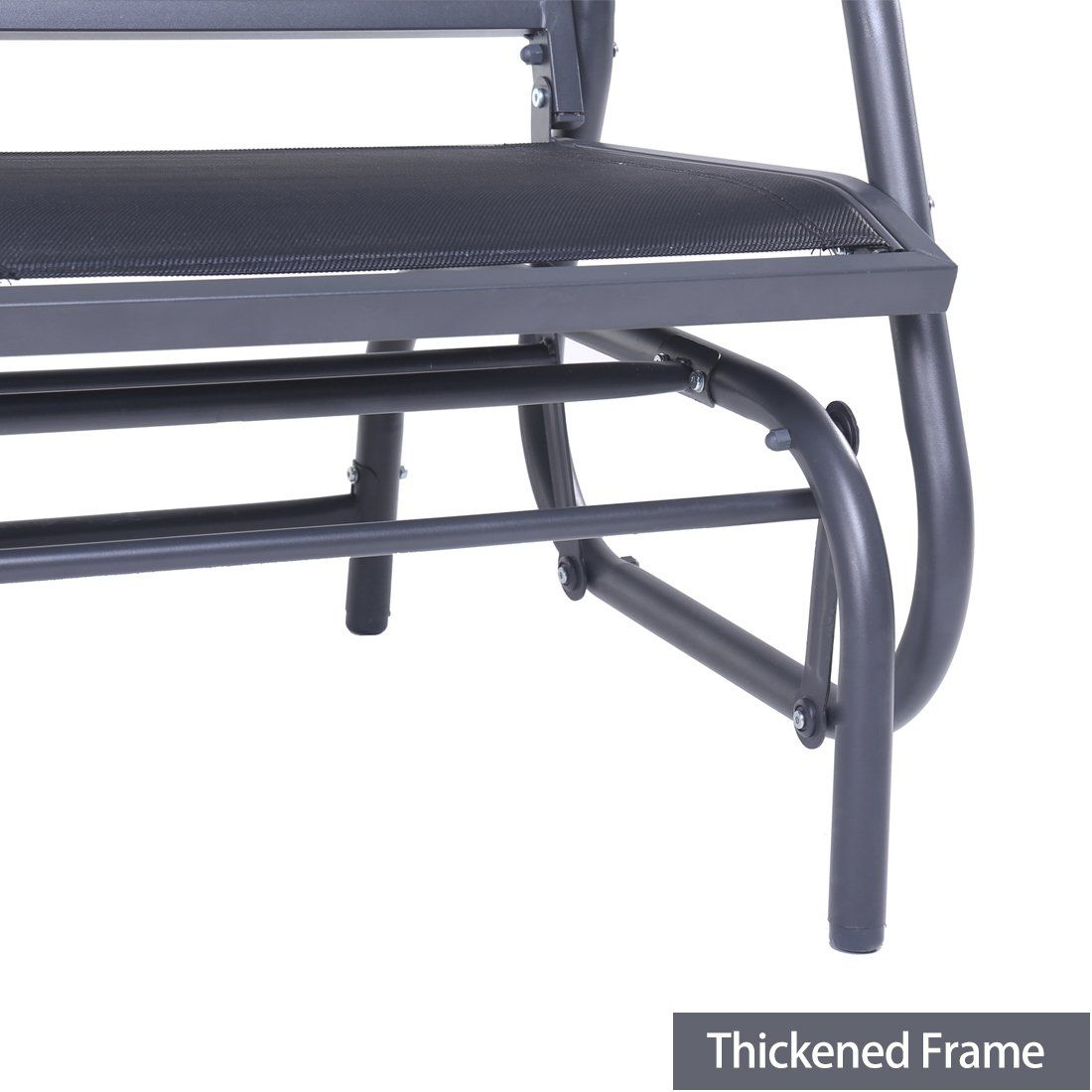 bd61238d5ab SUPERJARE Outdoor Swing Glider Chair Patio Bench for 2 Person Garden Rocking  Seating Dark Gray     You can find more details by visiting the image link.