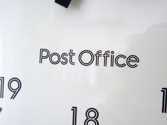 Post Office Banks font