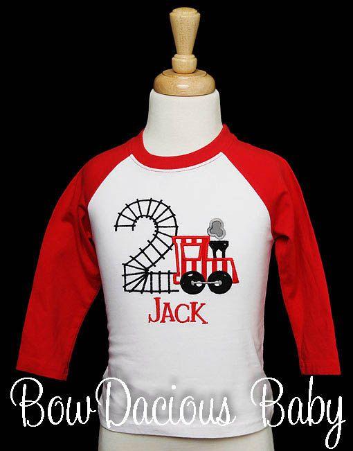 Train Birthday Shirt Number 2 Use Any By Bowdaciousbaby