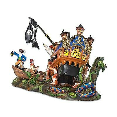 Dept 56 Halloween Village Ship of Sea Phantoms Pirate Serpent Lighted 53227 NEW | eBay