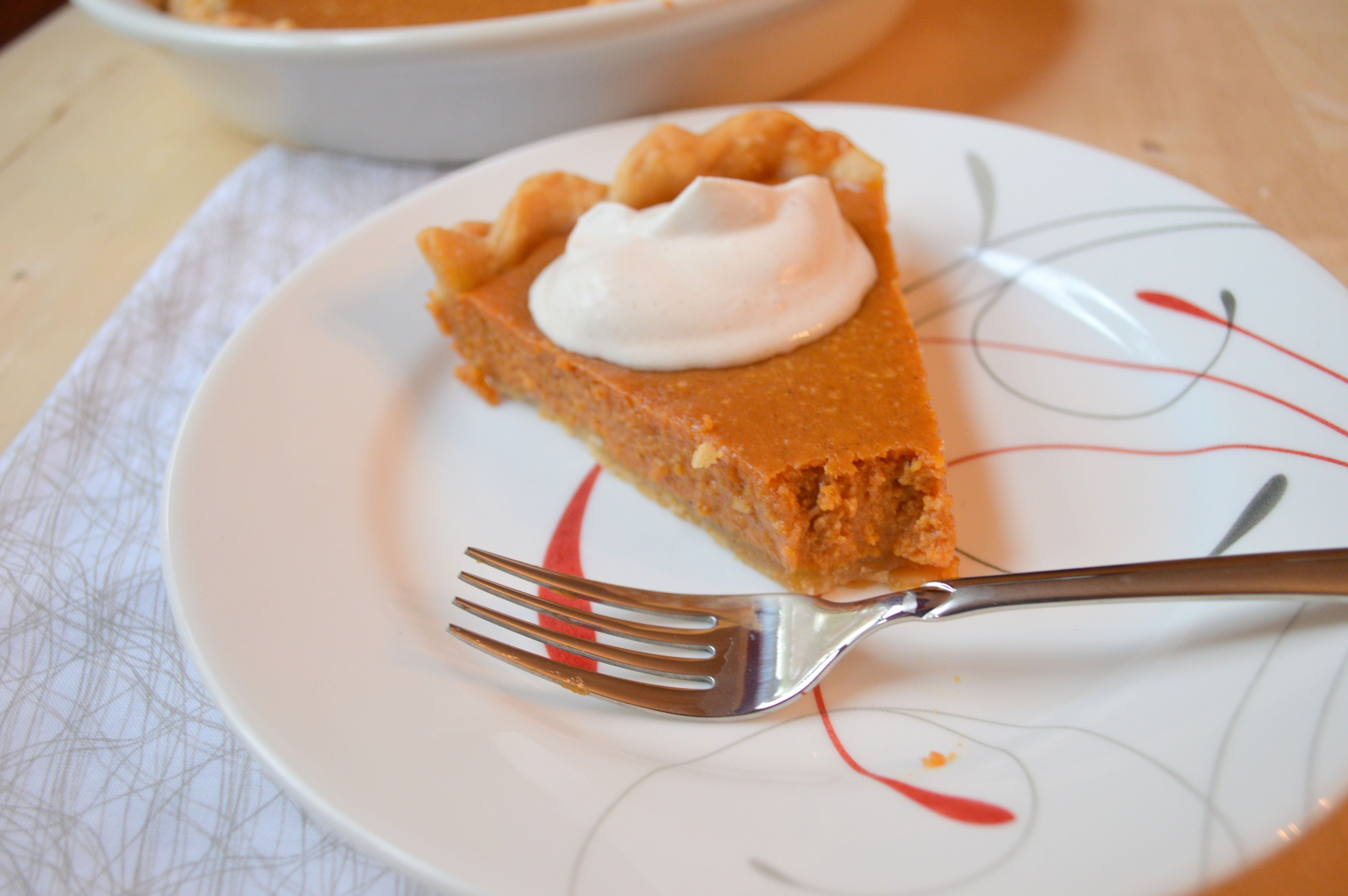 Perfect Pumpkin Pie with Cinnamon Whipped Cream