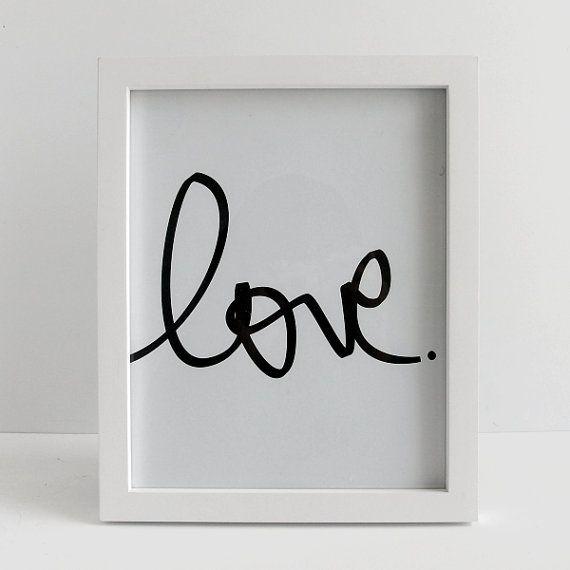 Set of 2 love and line heart print art print gallery wall art print black white print