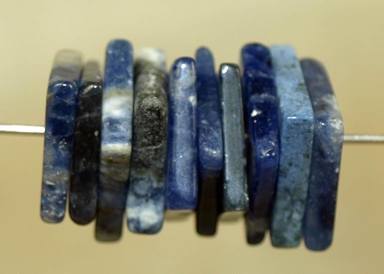 Vintage 1970s Cobalt Blue Glass Beads from Indonesia; LOUZELDIS2041