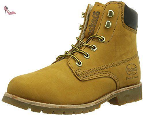 Dockers by Gerli 310712, Boots femme - Jaune (Golden Tan 093), 41 EU