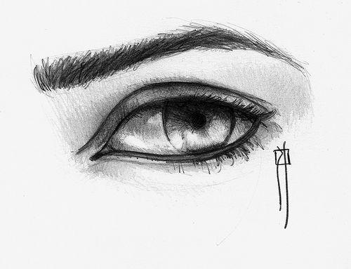 Dibujos Sombreados De Amor Faciles Imagui Dibujos De Ojos