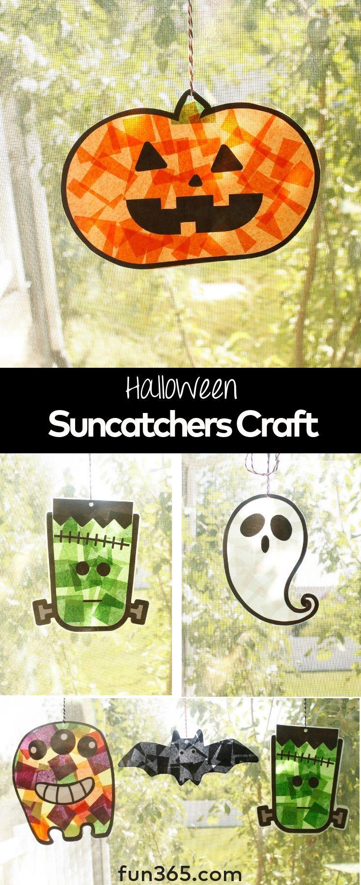 Halloween Suncatchers Craft Kindergarten halloween