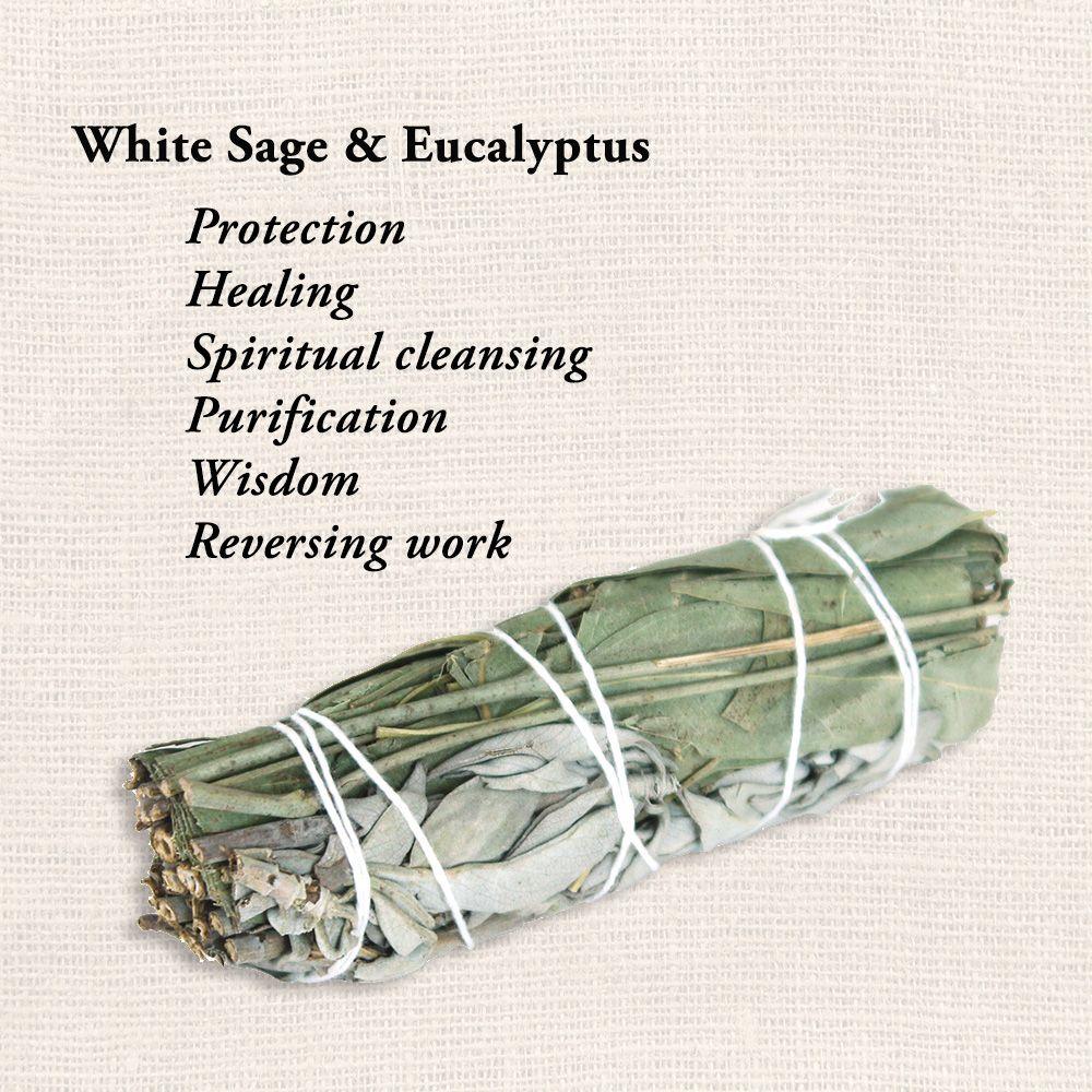 White Sage Eucalyptus Smudge Stick In 2020 Smudge Sticks Smudging White Sage Smudge