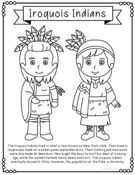 NATIVE AMERICAN INDIAN TRIBES Coloring Pages, Crafts