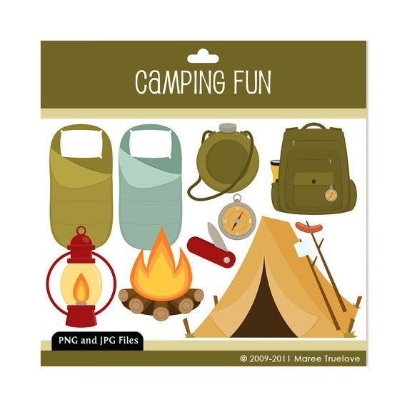 Camping Clipart Digital Clip Art Graphics For By MareeTruelove 300