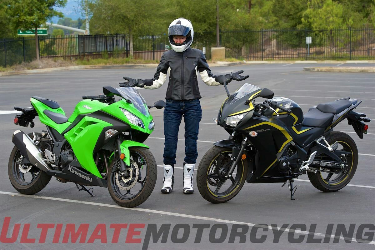 Battle of the hobbits honda cbr300r vs kawasaki ninja 300r shootout