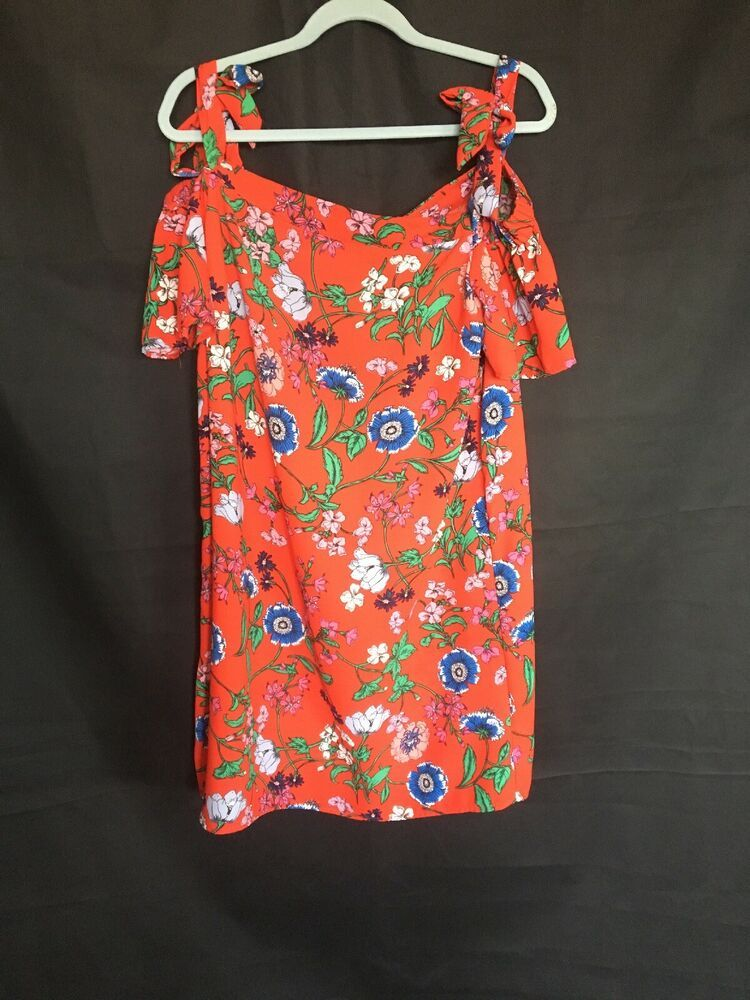 009561d97607 Ladies New Look Summer Red Dress Bardot Style Size 14 #fashion #clothing  #shoes #accessories #womensclothing #dresses (ebay link)