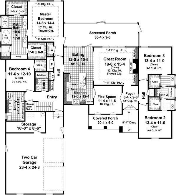 Split Bedroom House Plans Alp 05uy Chatham Design Group House Allplans Com Lake House Plans How To Plan Monster House Plans
