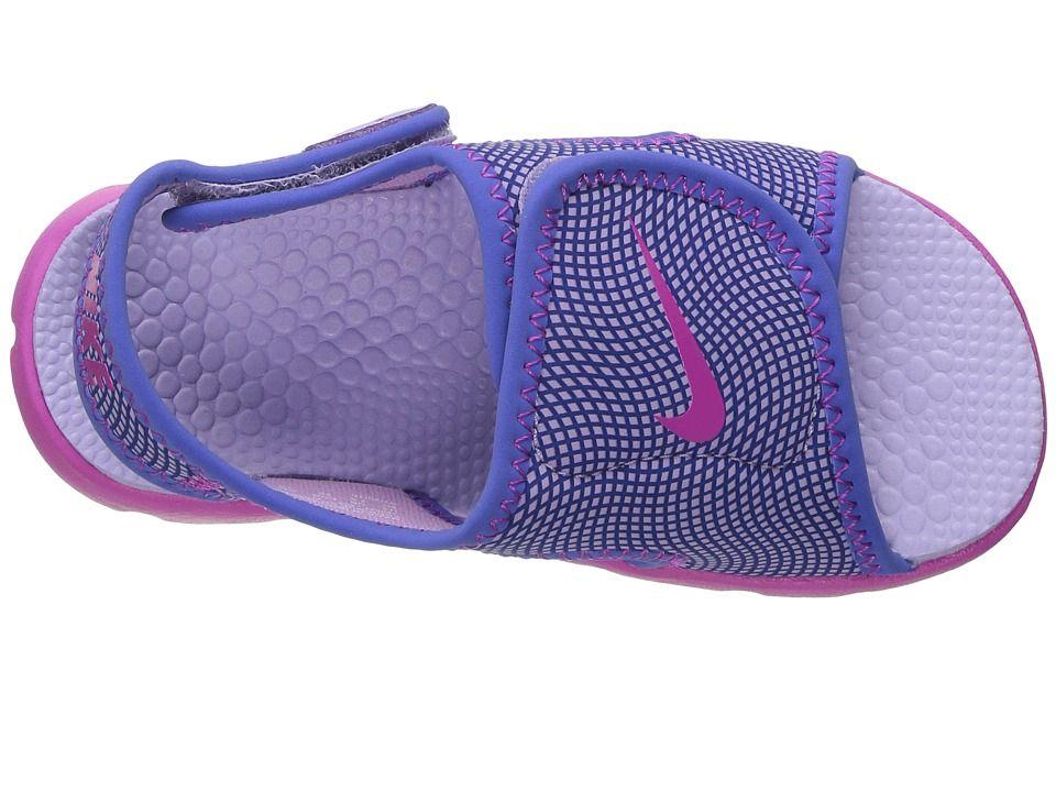 69eb8f3c8c20 Nike Kids Sunray Adjust 4 (Infant Toddler) Girls Shoes Hydrangeas Fire Pink Comet  Blue