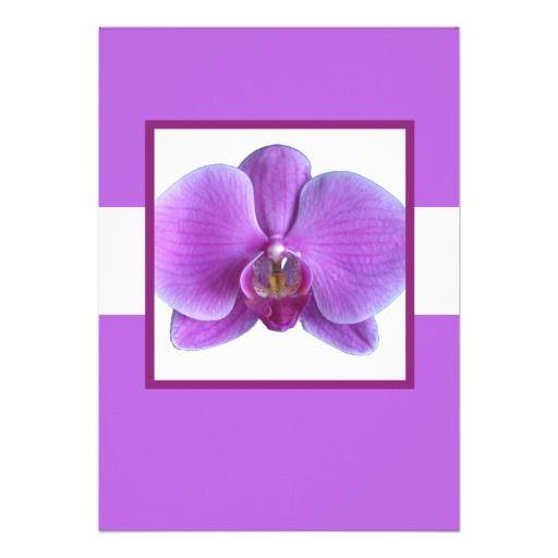 purple orchids in weddings | Purple Orchid Wedding Invitation at Zazzle.ca