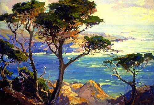 A Lonely Headland Point Lobos by Franz Bischoff