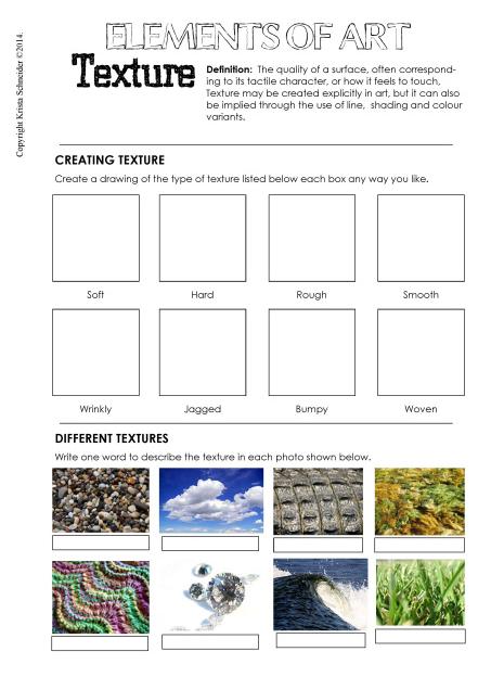 Image result for texture worksheet for kindergarten