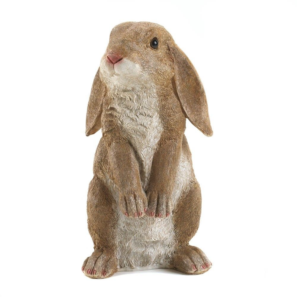 Superior CURIOUS RABBIT HARE BUNNY CUTE GARDEN ORNAMENT LAWN YARD STATUE DECORATION  NEW #HomeLocomotion