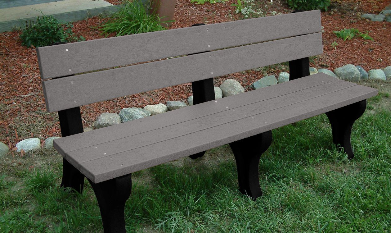 Memorial Park Bench With Color Inlay The Bench Factory 864 50 For 6ft With 2 Lines Of Engraving Memorial Benches Bench Park Bench