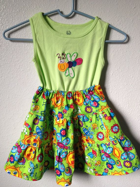 Bright Bugs & More Bright Bugs Green by uniqueneedleworks on Etsy, $22.95