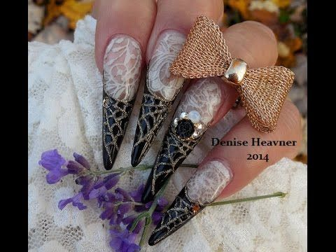 How to halloween romantic web gel nails w lace youtube nail how to halloween romantic web gel nails w lace prinsesfo Image collections
