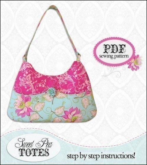 Sweet Pea Pocket Purse Pattern | Nähen