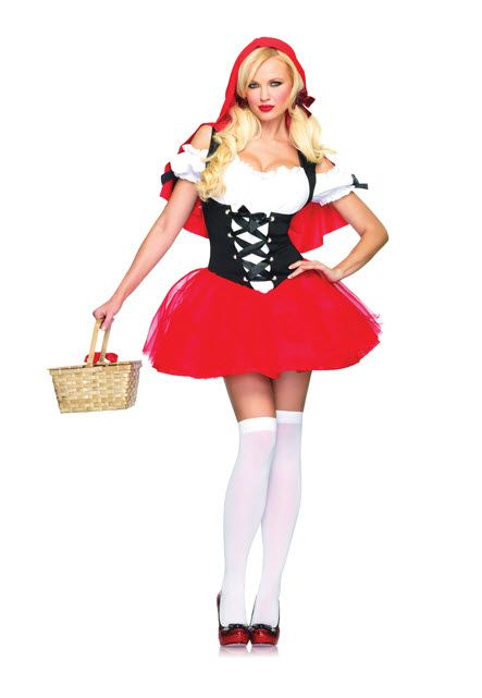 40dc3fb8783 Red Riding Hood Costume Racy Red Riding Hood Adult CostumeJust need a Wolf  for this fairytale Features  Tutu peasant dress with corset front detail  and at