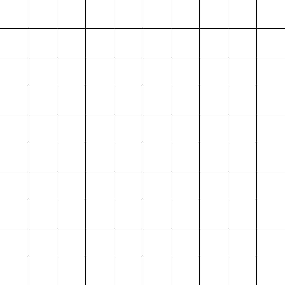 Blank 12 X 12 Grid 10x 10 Grid Blank Grid Template Art