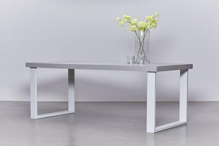 Metalen Onderstel Tafel : Vcw betonlook tafel wit metalen onderstel keuken nico