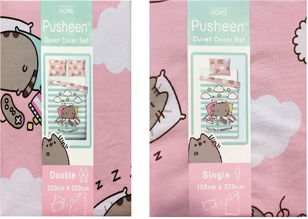 Details about PUSHEEN THE CAT Duvet Reversible Bed Set