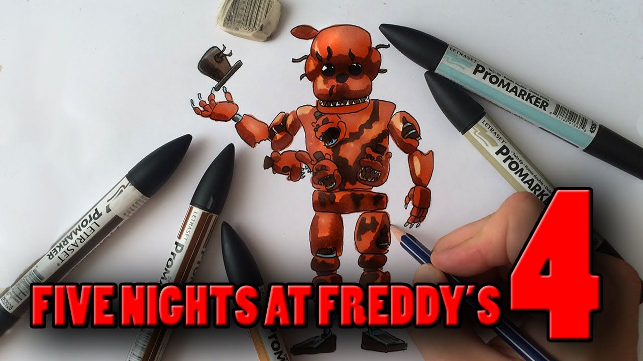 how to draw withered freddys body from old one