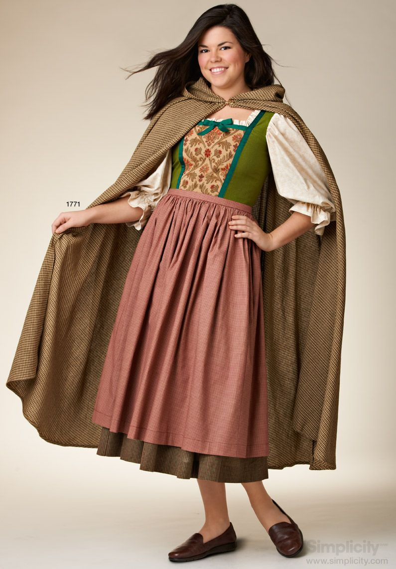 more medieval costumes for this halloween with hooded unisex capescloaks simplicitypatterns