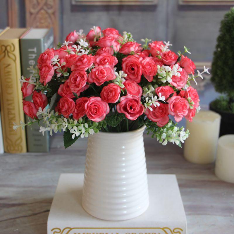 Künstliche blumen seidenblume 15 knospen 1 bouquet herbst vivid ...
