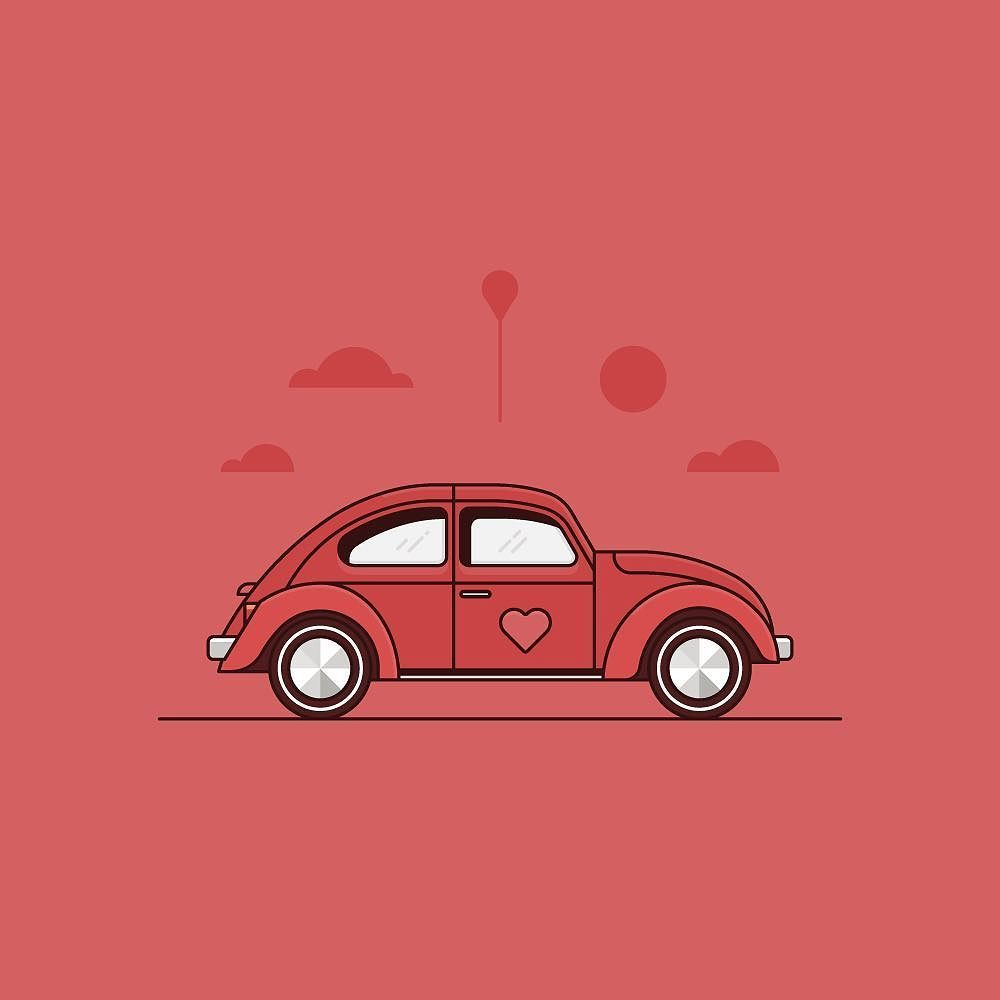 Happy Valentines Day To All The Love Bugs Illustration Vector