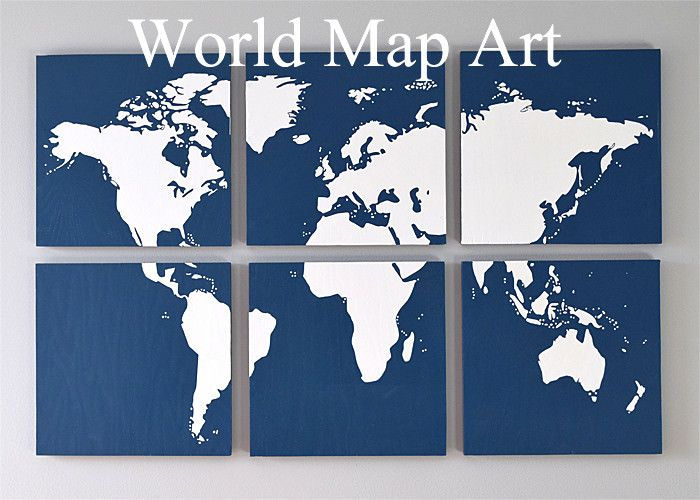 Diy map art for the wall graphic wall art pieces and silhouettes create a stunning graphic wall art piece with wood and a world map silhouette tutorial for world map wall art including a free cut file for each segment of gumiabroncs Choice Image