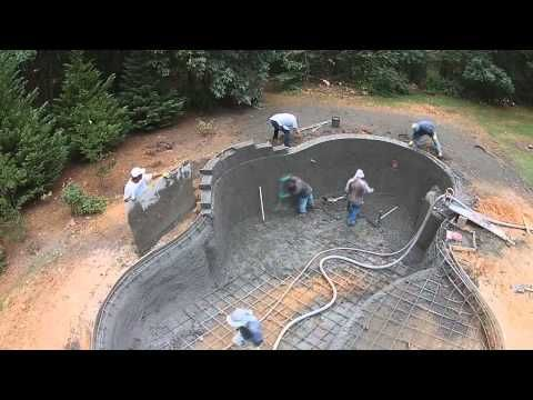 Build A Swimming Pool In Thailand Youtube Garden
