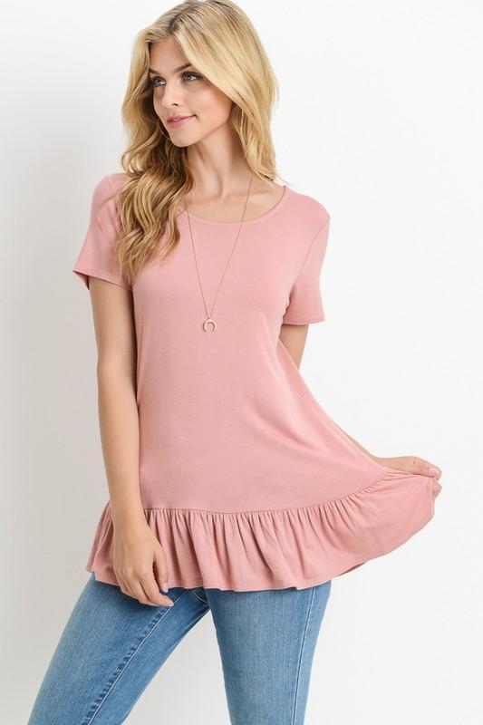 156a7808392 Saturday Morning Ruffle Peach Shirt | Summer | Women's clothing ...