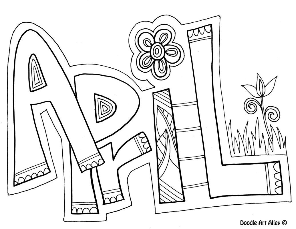 month coloring pages | Pin by Kelly Poole on Doodles and Printables | Coloring ...