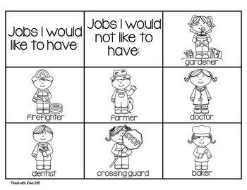 Career Day Worksheets For Kindergarten