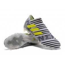uk availability 02491 afdd5 Compra Botas De Futbol Adidas Nemeziz 17+ 360 Agility FG Blanco Amarillo  Negro