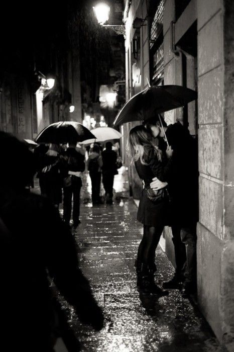 meet me in the pouring rain, kiss me on the sidewalk, take away the pain….cause I see sparks fly… ♥