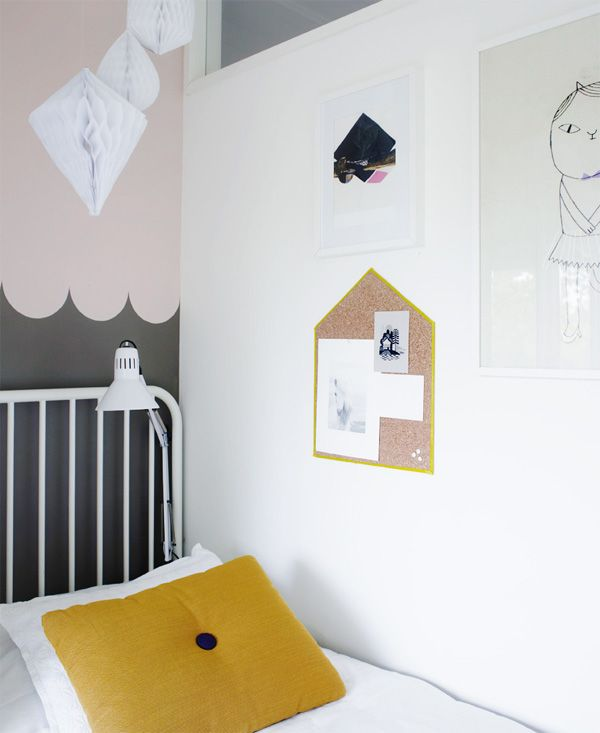 #Brown, #Pink and #White: #Modern #Kid's Room #interiors