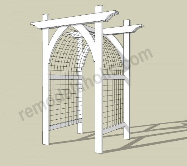 10 diy awesome and interesting ideas for great gardens 10 for Gate arbor plans