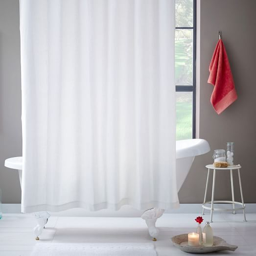 Brighton Matelasse Shower Curtain - Stone White | West Elm | 3 1 S T ...