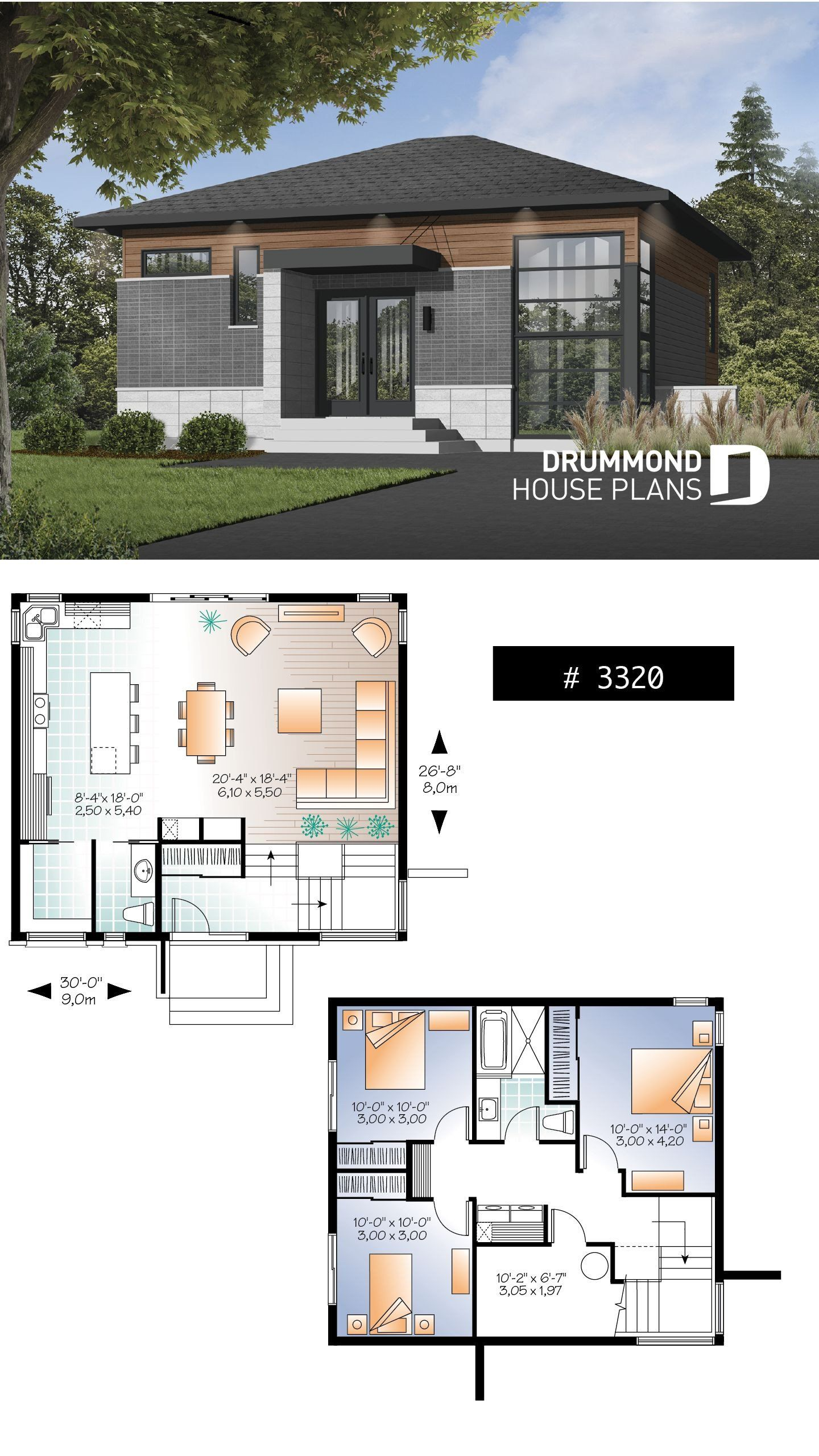 Modern House Designs Low Cost House Plan Solana No 3320 Contemporary House Plans House Construction Plan House Blueprints