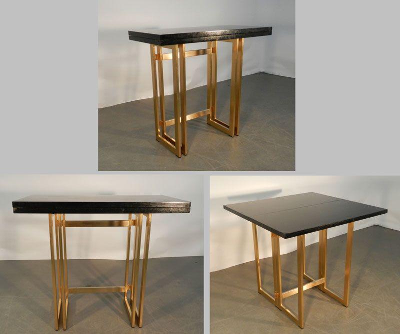 Mod 428 Artelano Table Console Transformable 1980 Amenagement Petit Espace Table Consoles