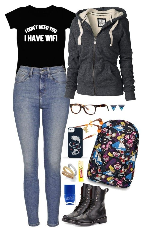 """""""Gail"""" by anna-fozo ❤ liked on Polyvore featuring Disney, Topshop, rag & bone, Fat Face, Carmex and Lipsy"""