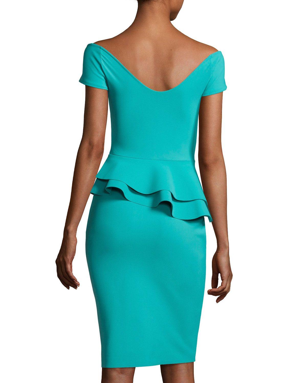 8eea10c8c9574 Chiara Boni La Petite Robe Lady Cap-Sleeve Peplum Cocktail Dress